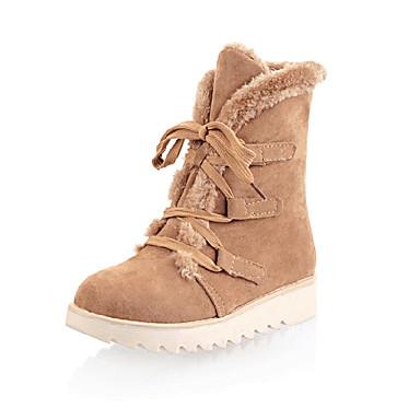 Naiset Kengät Tekonahka Kevät Syksy Talvi Muotisaappaat Talvisaappaat Bootsit Kävely Korokekengät Solmittavat Käyttötarkoitus
