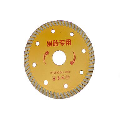 sahanterä, leikkaus, ulkohalkaisija: 105 (mm), sisähalkaisija: 20 (mm), paksuus: 1,2 (mm)