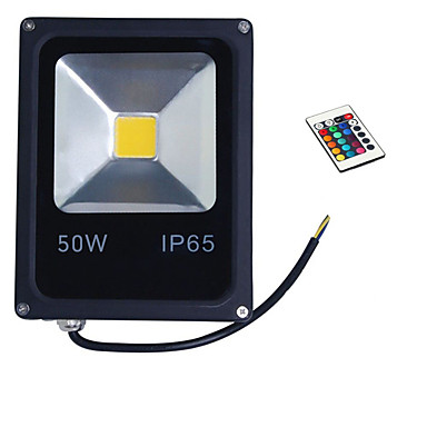 1pc 50 W Focos LED Impermeable / Control remoto / Regulable RGB 85-265 V Iluminación Exterior / Patio / Jardín