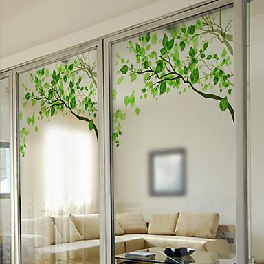 Bäume / Blätter Moderne Fensterfolie, PVC/Vinyl Stoff Fensterdekoration Esszimmer Schlafzimmer Büro Kinderzimmer Wohnzimmer Badezimmer
