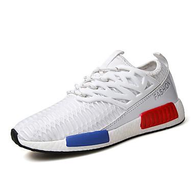 Sneakers-Tyl-Komfort-Dame-Sort Blå Hvid Grå-Fritid Sport-Flad hæl