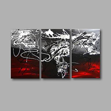 Hang-Ölgemälde Handgemalte - Abstrakt Modern Segeltuch Drei Paneele
