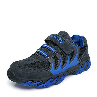 Sportssko-Læder Stof-Komfort Flade balletsko Ankelstøvler Modestøvler-Drenge-Blå Rød-Udendørs Fritid Sport-Kilehæl