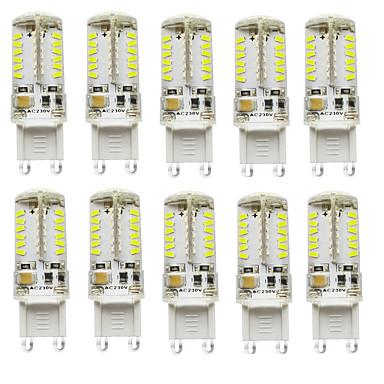 abordables Ampoules électriques-2.5 W LED à Double Broches 200-250 lm G9 T 57 Perles LED SMD 3014 Imperméable Décorative Blanc Chaud Blanc Froid Blanc Naturel 12 V 24 V Pile / 10 pièces / RoHs