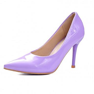 Damen Schuhe Kunststoff Lackleder Kunstleder Frühling Sommer Komfort Neuheit Pumps High Heels Walking Stöckelabsatz Tupfen für Hochzeit