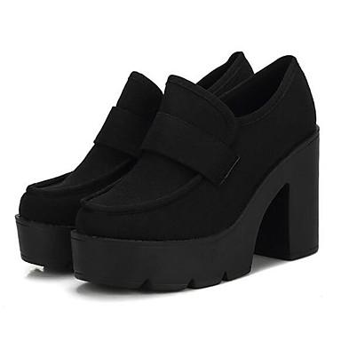 Dame-Fleece-Tykk hæl-Hæler / Ankelstøvler-Støvler-Friluft-Svart