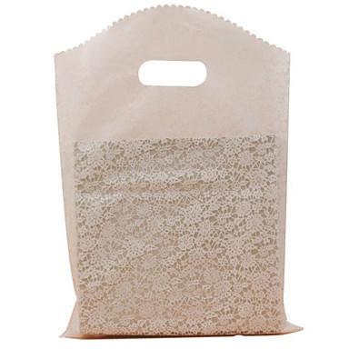 Os sacos de compra plásticos do pe dos sacos do presente do boutique, 25 * 35cm 1package50