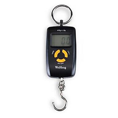 bærbare elektroniske skala (veieområdet: 45kg / 10g, svart)