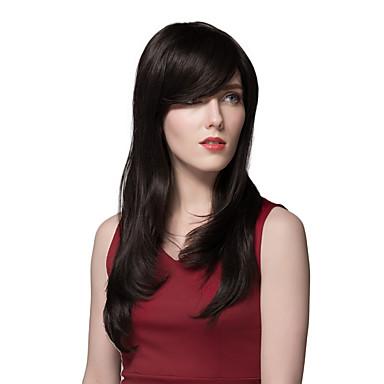 Human Hair Capless Pruiken Echt haar Recht Zonder kap Pruik