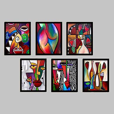 Abstract Fantezie Pânză Înrămată Set Înrămat Wall Art,PVC Material Negru Fără Rogojină cu Frame For Pagina de decorare cadru Art