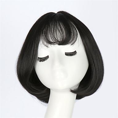 lille pige hår søde mode dejlige parykker kort bobo glat hår pæn bang fuld hoved sexede kvinder hår cap