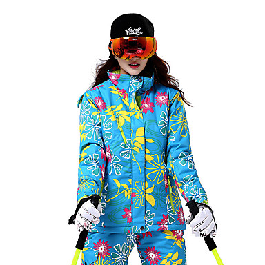 Dames Ski-jack Houd Warm Winddicht Skiën Wintersporten Katoen Polyester