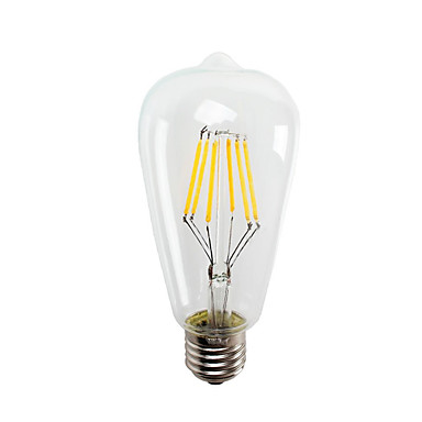 ST64 6ワットE27の550lmは保存ヴィンテージ主導エジソン電球のエネルギーを主導6ワットLED- 60ワット同等(ac220-240v)