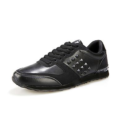 Sneakers-PUHerre-Sort Blå Rød-Sport-Flad hæl