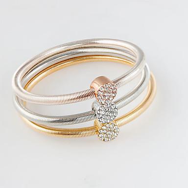 Dame Charm-armbånd Mode Legering Cirkelformet Guld/Sølv Smykker For 1 Sæt