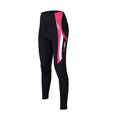 TASDAN Mulheres Calças Elásticas para Ciclismo Moto Meia-calça / Calças Tapete 3D, Secagem Rápida, Respirável Sólido Azul / Rosa claro