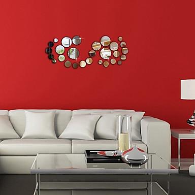 Mote Veggklistremerker Veggklistremerker i Speilstil Dekorative Mur Klistermærker Materiale Kan Omposisjoneres Hjem Dekor