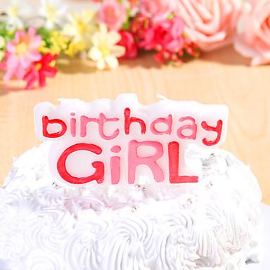 Juhlakoristeet happybirthday syntymäpäivä kynttilöitä asetettu (1 kpl) tytöille