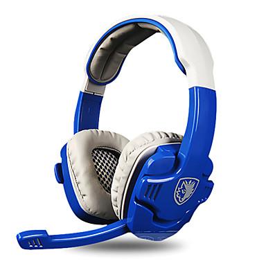 SADES SA-806 Sobre o ouvido Bandana Com Fio Fones Dinâmico Plástico Games Fone de ouvido Isolamento de ruído Com Microfone Luminoso Fone