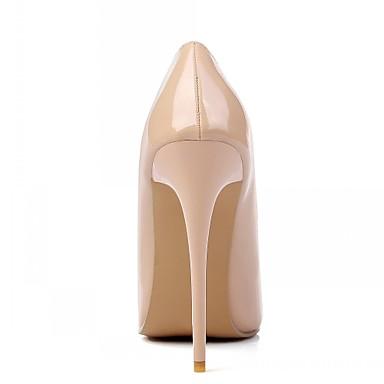 Pedrería Puntiagudo Cuero Dedo 05413699 Tacones Verano Confort Primavera Stiletto Mujer Descubierto Microfibra Patentado Talón Tacón Zapatos RwqxO6A