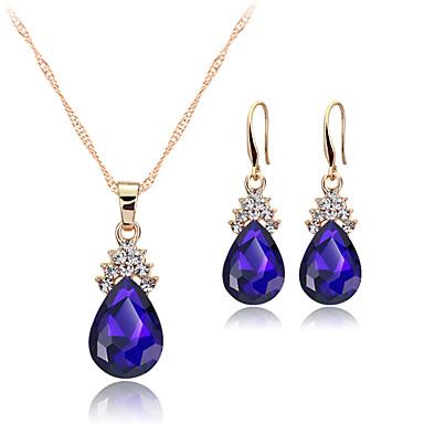 Mujer Cristal Conjunto de joyas - Cristal Moda Incluir Collar / pendientes Blanco / Rojo / Azul Para Fiesta / Diario / Casual / Pendientes / Collare