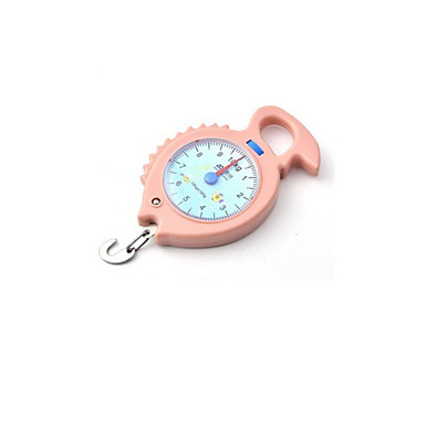 draagbare elektronische weegschaal (maximum gewicht: 10 kg, roze)