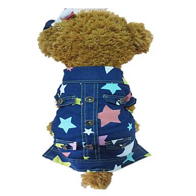 Koira Farkkutakit Koiran vaatteet Muoti Tähdet Sininen