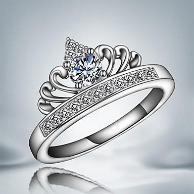 Feminino Anéis Grossos Cristal Amor Borlas Moda bijuterias Prata de Lei Zircão Jóias Para Casamento Festa Diário Casual