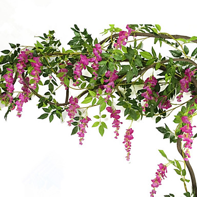 Kunstbloemen 1 Tak Pastoraal Stijl Violet Bloemen voor op de muur