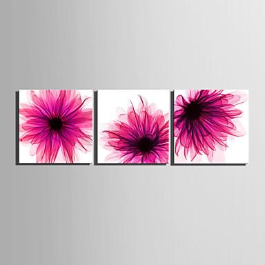Canvas Set Blomstret/Botanisk Europeisk Stil,Tre Paneler Lerret Firkantet Print Art Wall Decor For Hjem Dekor