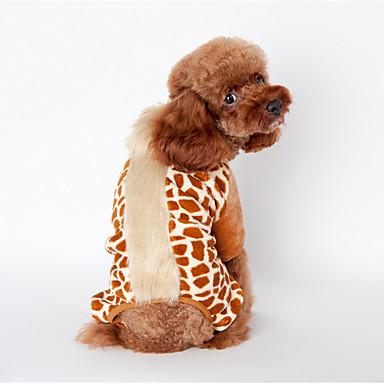 Hond Jumpsuits Pyjama Hondenkleding Schattig Casual/Dagelijks Dier Zwart Bruin Roze
