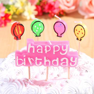 partij decoratie kaarsjes set (5 stuks) gelukkige verjaardag kleine kaarsen