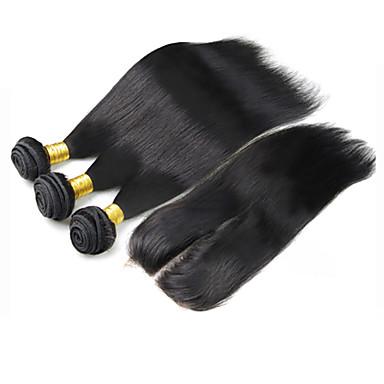 Kapanması Saç Atkı Düz Brezilya Saçı Rovné saç örgüleri