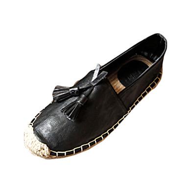 Heren Schoenen PU Lente Comfortabel Loafers & Slip-Ons voor Causaal Wit Zwart Bruin