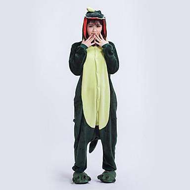 Kigurumi-pysjamas Dinosaur Onesie-pysjamas Kostume polyester Mørkegrønn Cosplay Til Voksne Pysjamas med dyremotiv Tegnefilm Halloween