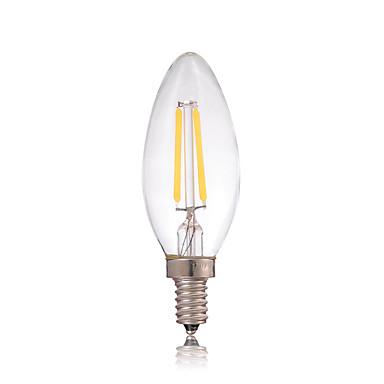 dimmbar 2W e14 180lm führte Glühlampe Kerzenlicht edison Glas für Kronleuchter Beleuchtung (AC220-240V)