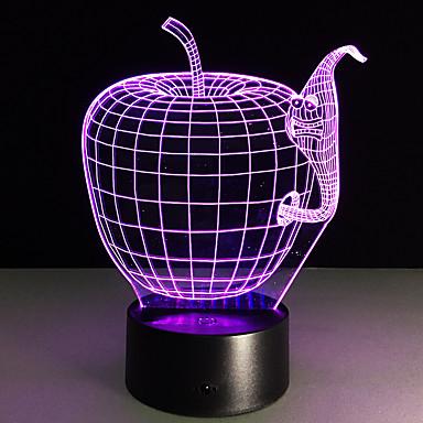 1kpl touch 3 d johtanut värikäs visio lamppu lahja ilmapiiri pöytälampun muutos väri yövalo
