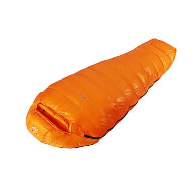 Saco de dormir Tipo Múmia Penas de Pato -35°C Manter Quente Compressão 210 Equitação Campismo Solteiro (L150 cm x C200 cm)