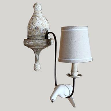 старинные натурального дерева птица сделать олф лампа цвет стены в село стиле, который с тенью ткани