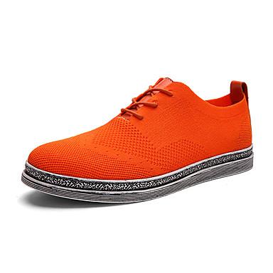 Fladsko-Stof-Komfort-Herre-Sort Blå Grå Marine Orange-Fritid-Flad hæl