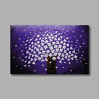 Handgeschilderde Abstract / Bloemenmotief/Botanisch Olie schilderijen,Modern Eén paneel Canvas Hang-geschilderd olieverfschilderij For