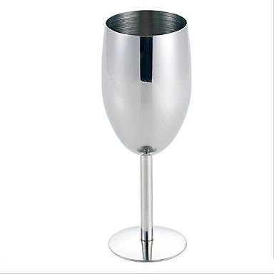 rustfrit stål rødvin vinglas bæger cup stilk og fod bar restaurant