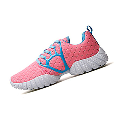 Dame-Tyll-Flat hæl-Komfort-Treningssko-Sport-Svart Rosa Hvit