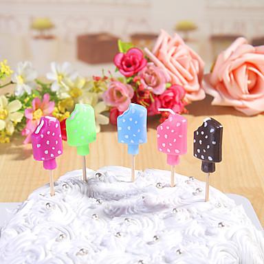 party dekoration fødselsdag stearinlys sæt (5 stykker) tegneserie små stearinlys