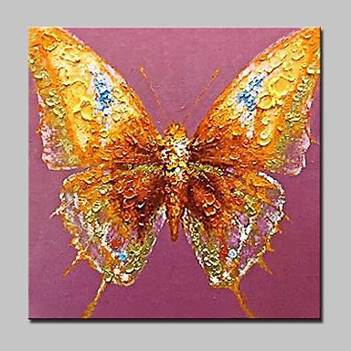 met de hand geschilderd dierlijke vlinder olieverfschilderijen op doek moderne kunst aan de muur foto met gestrekte frame klaar om op te hangen