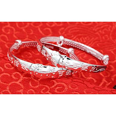 Herre Piger´ Drenge Armbånd Sølv Yndig Mode Rund form Sølv Smykker 1 par