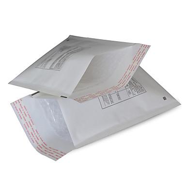 hvid farve, andet materiale, emballering& shipping, 120 * 175 mm, boble kuverter, en pakke med fem
