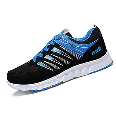 Heren Sneakers Lente Herfst Comfortabel Tule Casual Platte hak Veters Blauw Geel