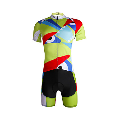 ILPALADINO Herrn Kurzarm Fahrradtriktot mit Fahrradhosen Fahhrad Trikot/Radtrikot Kleidungs-Sets, Rasche Trocknung, UV-resistant,