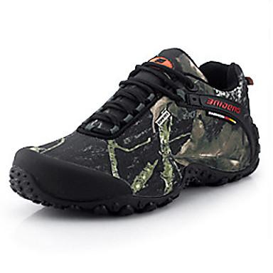 Herrer Sneakers Komfort Stof Forår Efterår Vandring Komfort Snøring Lav hæl Grå Gul 2,5-4,5 cm